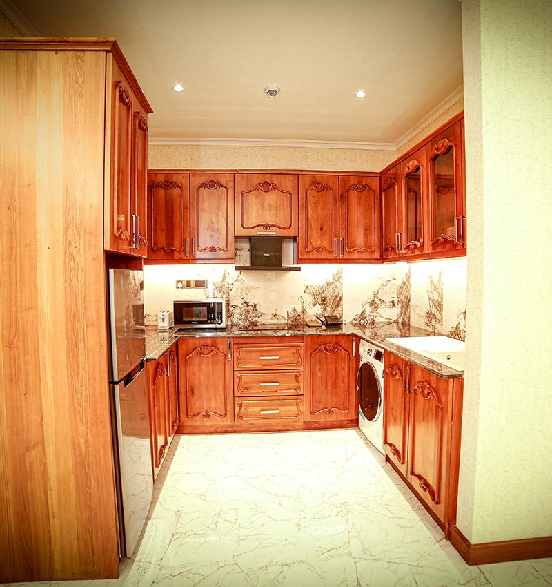 Well equipped pantry and kitchenette at Royal Suite