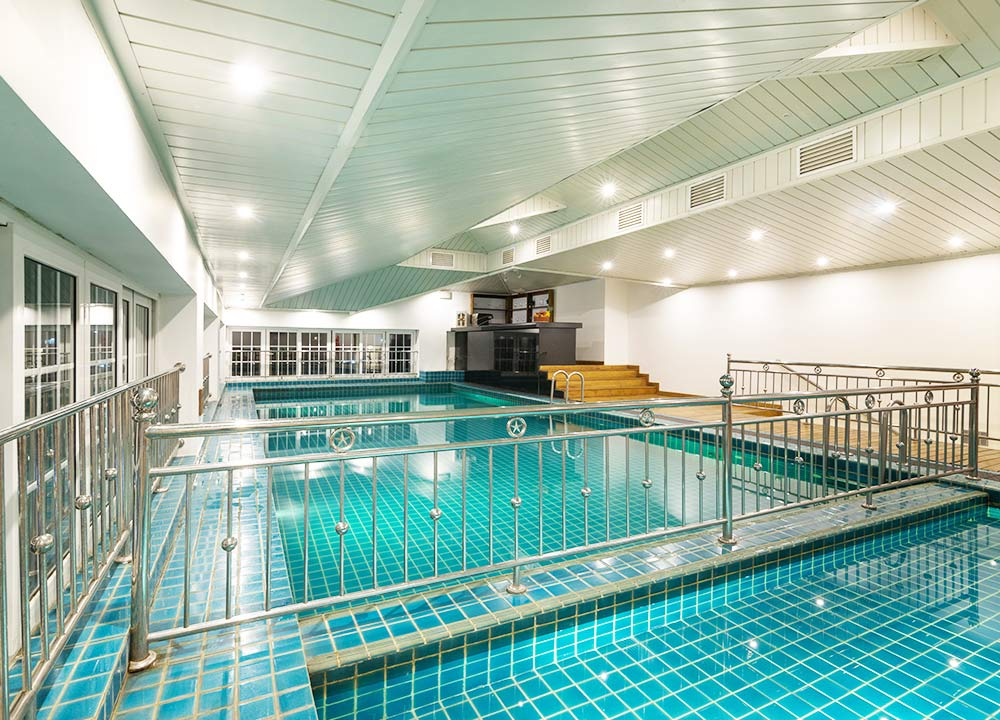 Side View of Indoor Heated Pool