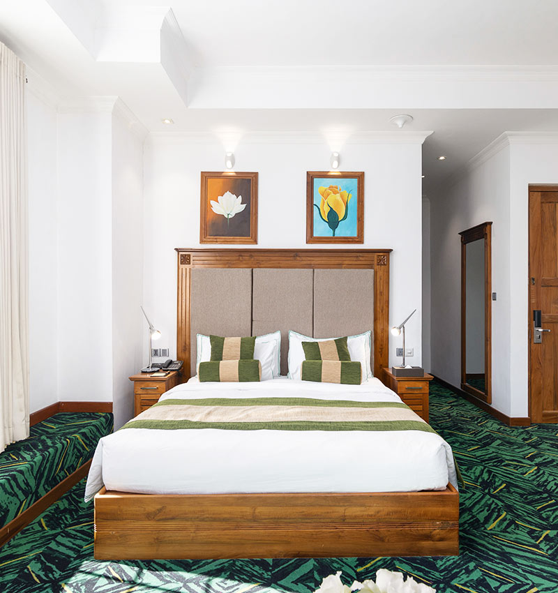 Front Bed View of Superior Rooms