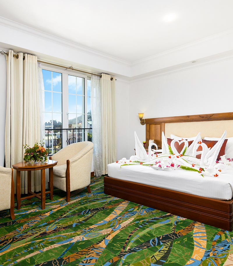 Super Deluxe Rooms with Bed Decorations