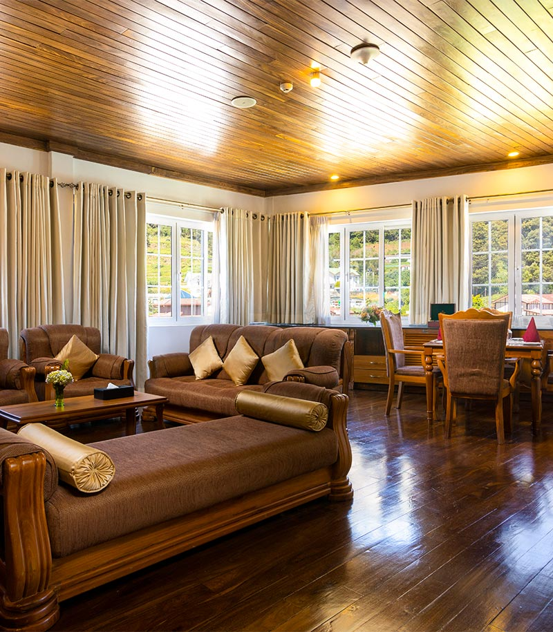 Living Area with Comfy Seating of Royal Suite