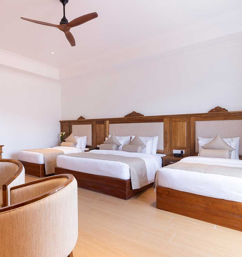 Sylish & convenient Deluxe family room at Araliya Red